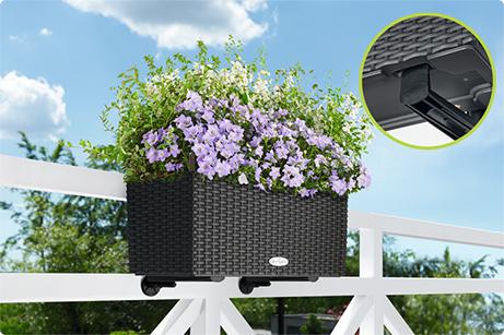 Les accroches-balconnières de LECHUZA sont invisibles de face